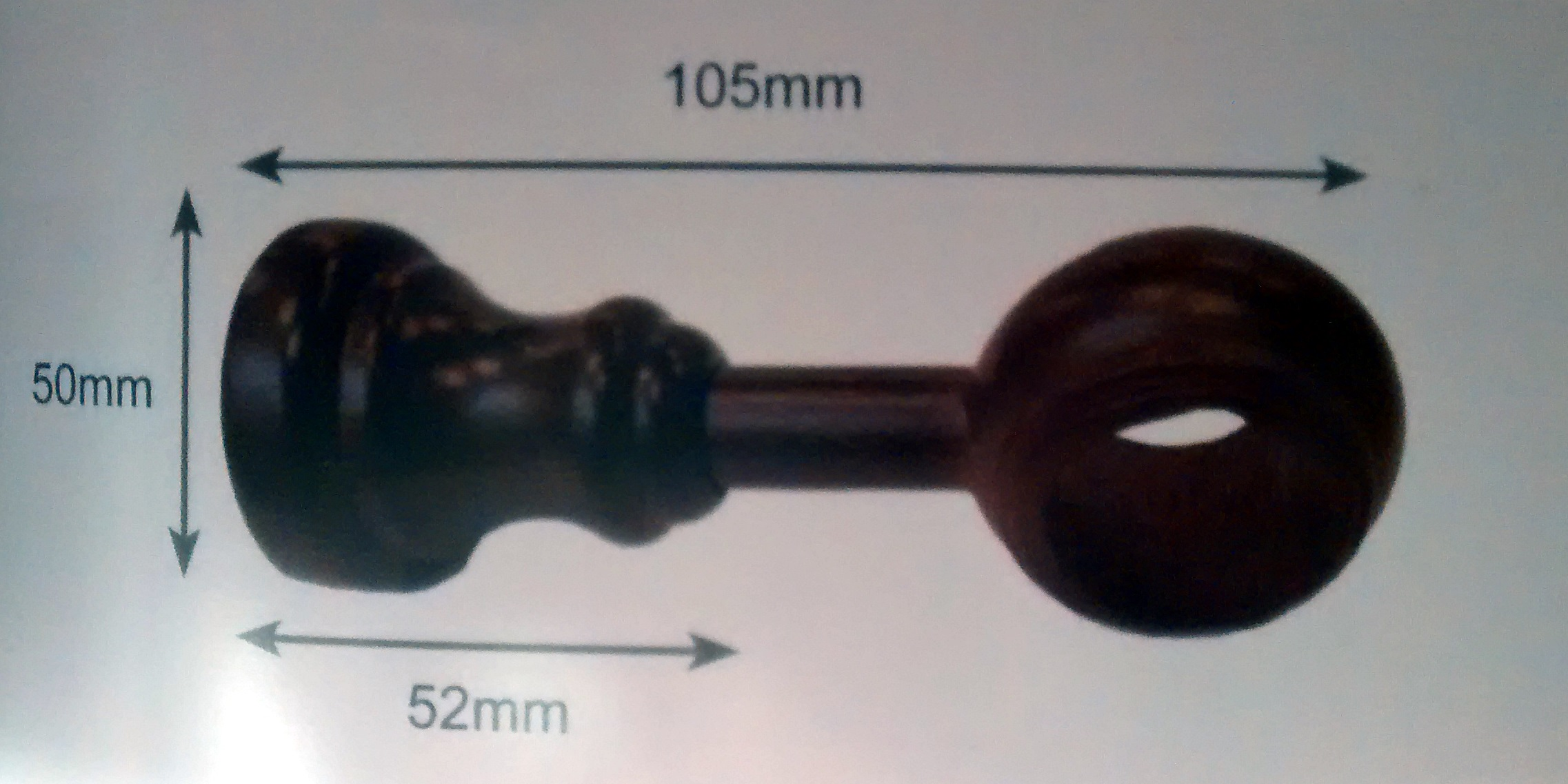 28mm Wood Curtain Poles