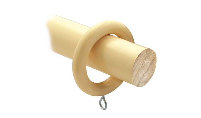 28mm cream wood pole
