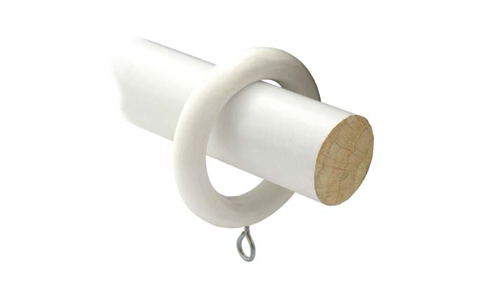 28mm white wood pole