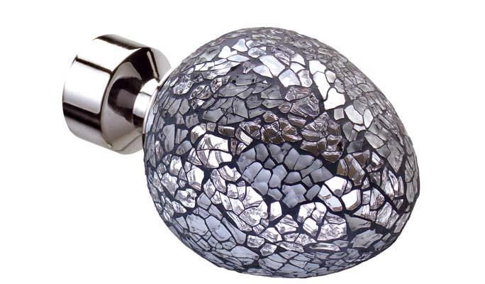 Alexia Silver Mirror (Chrome, Satin Silver, Polished Graphite)