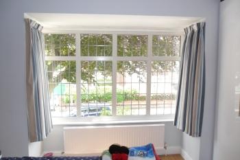 Square bay. Large bay window