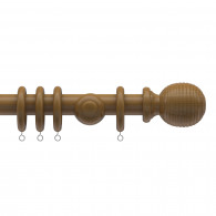 35mm Parkland Tatton dark oak wood pole