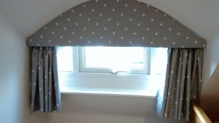 Cute little dormer window pelmet
