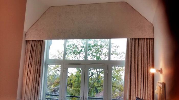 A HUGE dormer window pelmet!