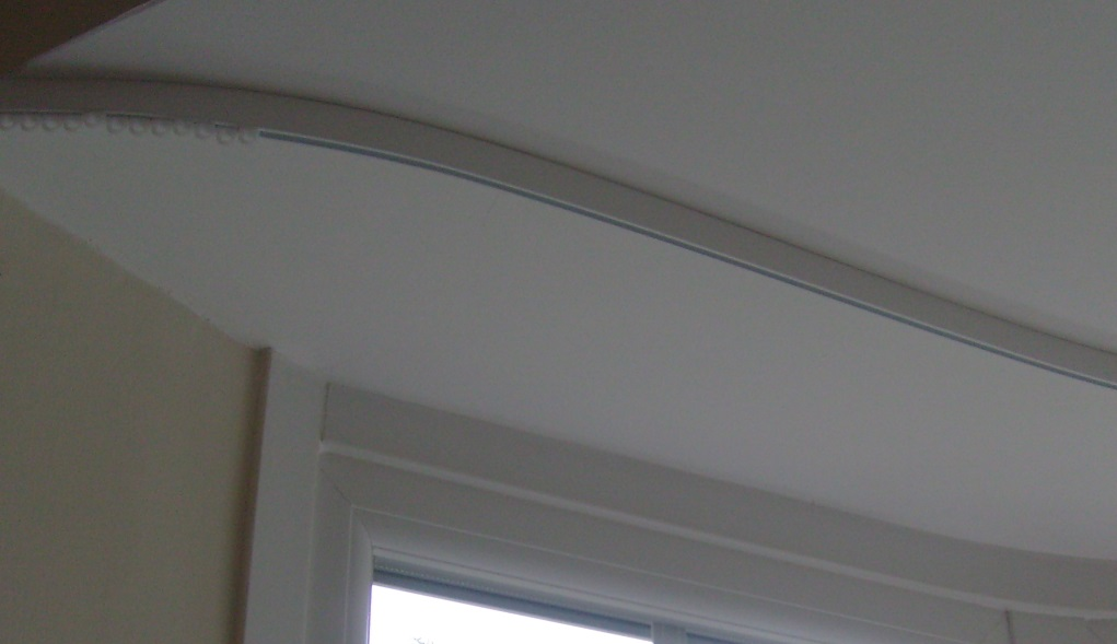 Super neat flush fitting ceiling mounted curtain track